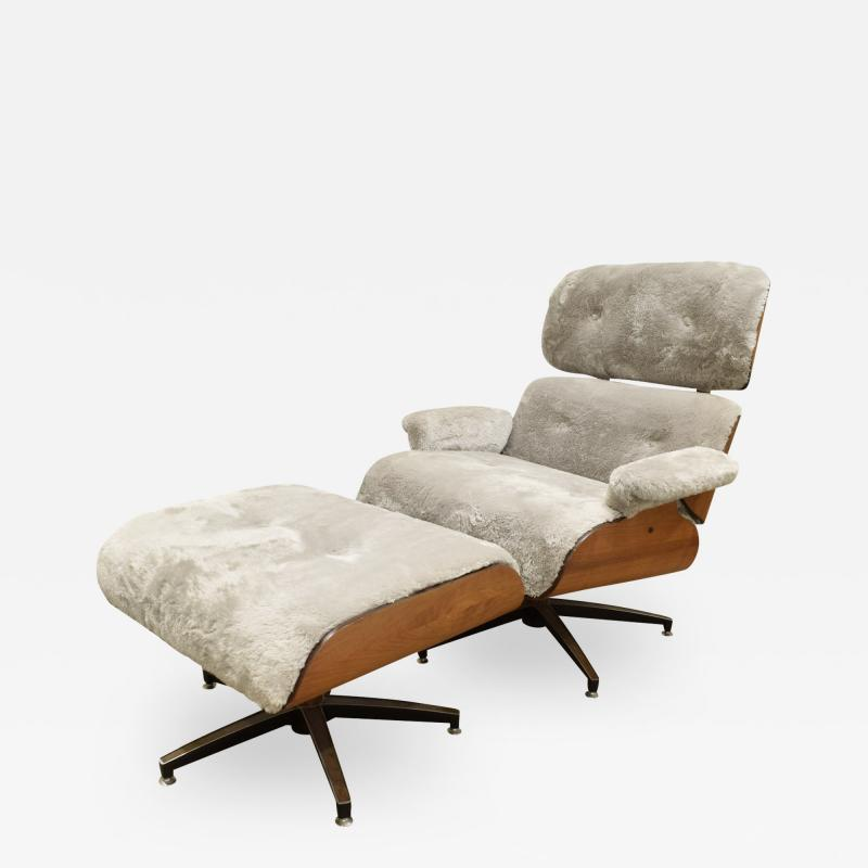 Charles Ray Eames Danish Eames Style Chair And Ottoman 1970s