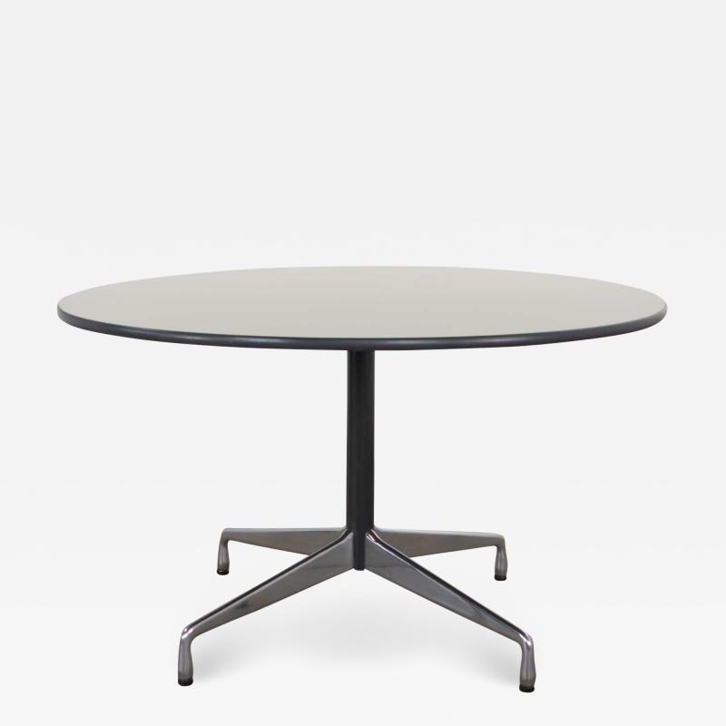 Charles Ray Eames Eames herman miller universal base round table off white laminate top