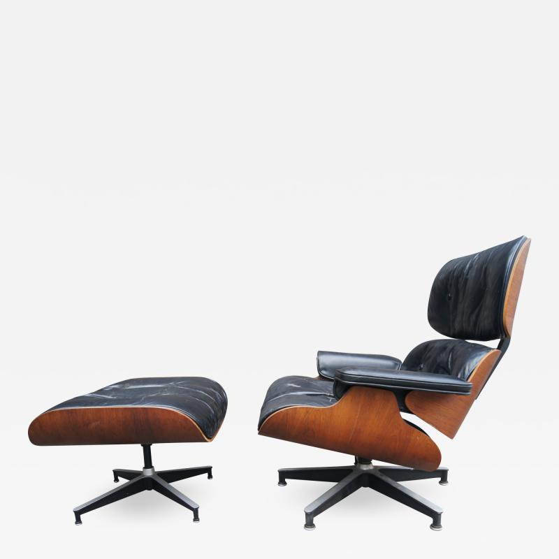 Charles Ray Eames Lounge Chair Ottoman Model 670 671 by Charles Ray Eames for Herman Miller