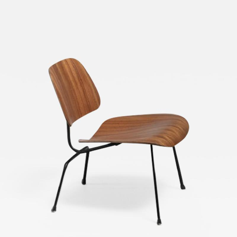 Charles Ray Eames Rare zebrano edition of the Eames LCM chair for Herman Miller USA