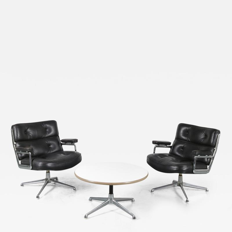 Charles Ray Eames Time Life Lobby Chairs with Coffee Table by Eames for Herman Miller USA 1960