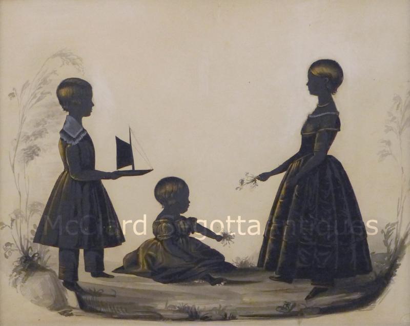 Charles Samuel Herv Stunning Conversation of Children by Charles Herv II c 1785 1866