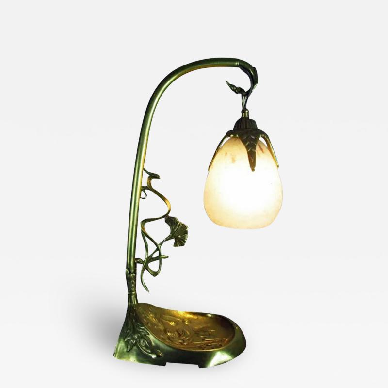 Charles Schneider French Art Nouveau desk table lamp Charles Schneider France C 1920