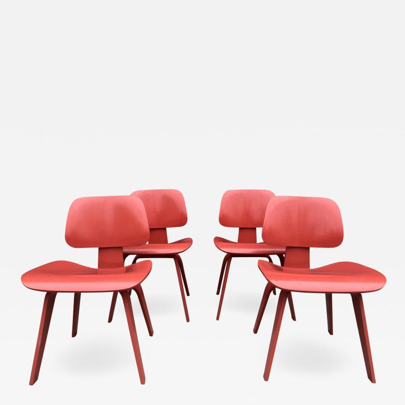Charles and Ray Eames Set of Four Eames for Herman Miller DCW Chairs