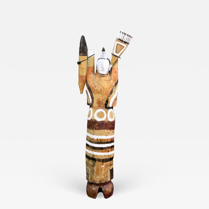 Charlie Willeto Standing Navajo Weaver with Weaving Tools Wood paint Folk Art Charlie Willetto