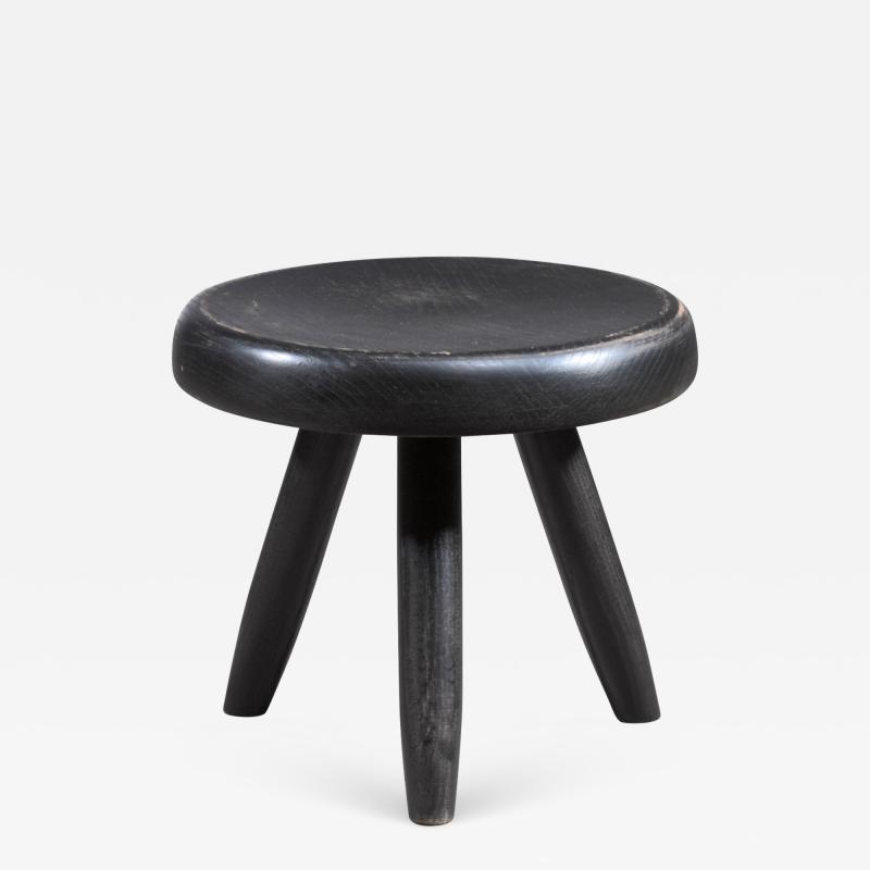Charlotte Perriand Charlotte Perriand low black stool France