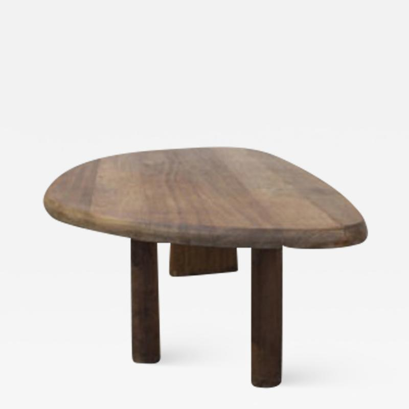 Charlotte Perriand Organic shaped table with a massive top ca 1956