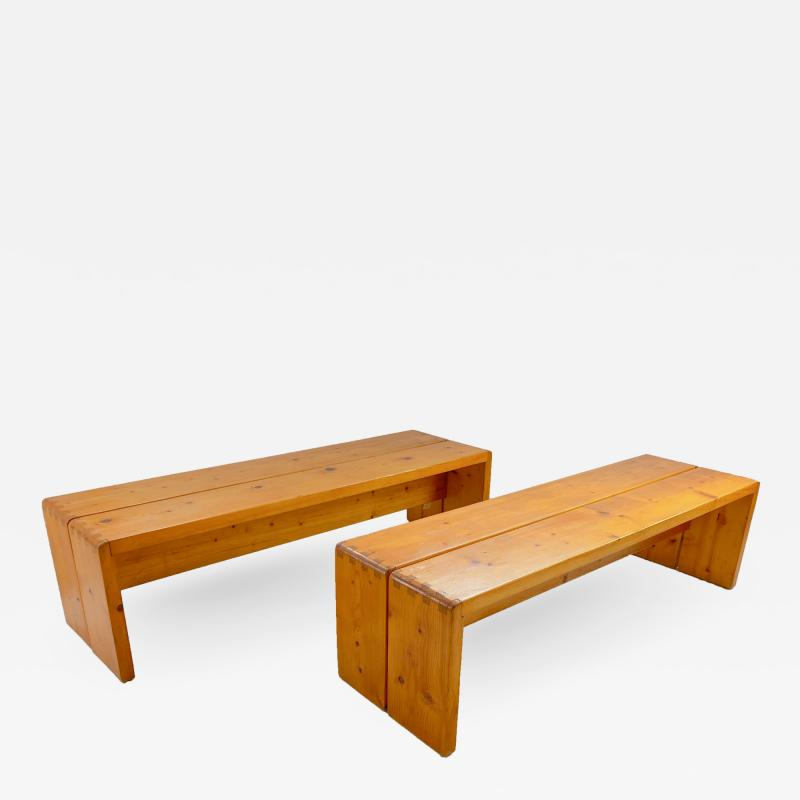 Charlotte Perriand Pair of Charlotte Perriand Les Arcs Benches circa 1960 France