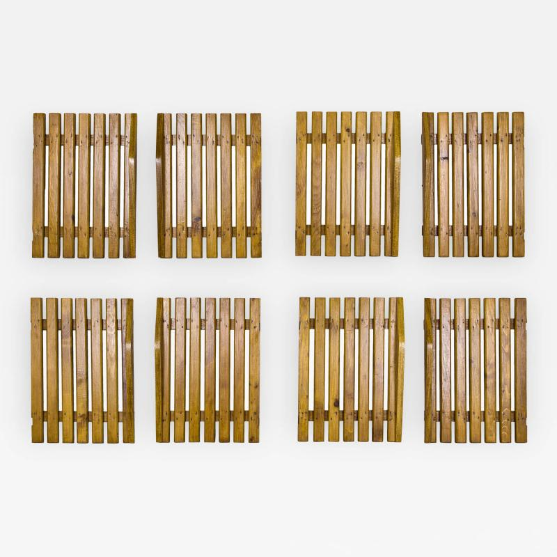 Charlotte Perriand Set of Four Pairs of Charlotte Perriand Slat Doors circa 1950 France