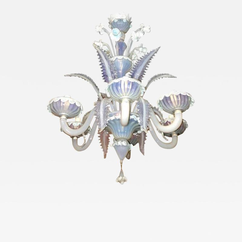 Charming Blue Murano Glass Chandelier Venice 1960