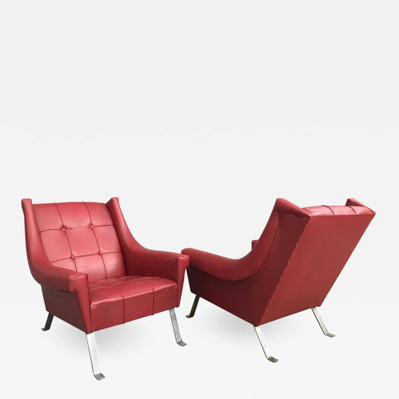 Charming Pair of Armchairs Gardella Style