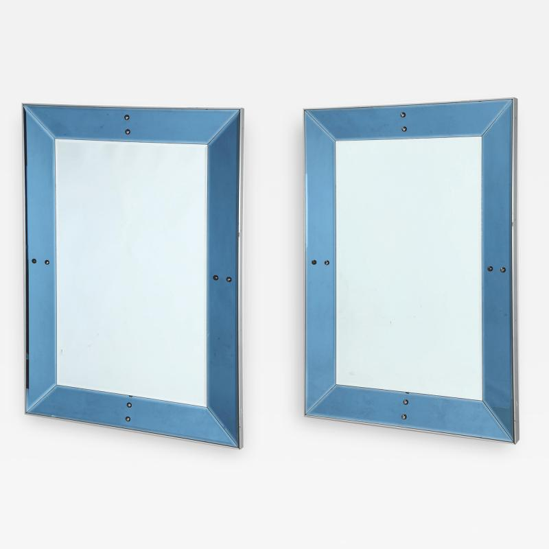 Chic Pair of large blue mirrors