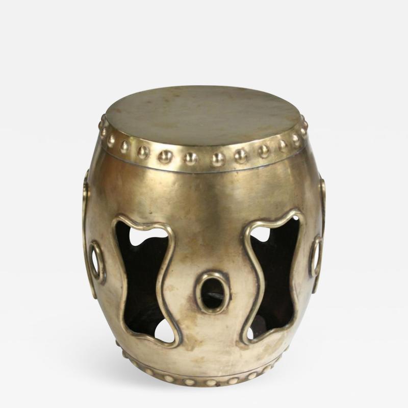 Chinese Brass Drum Garden Table
