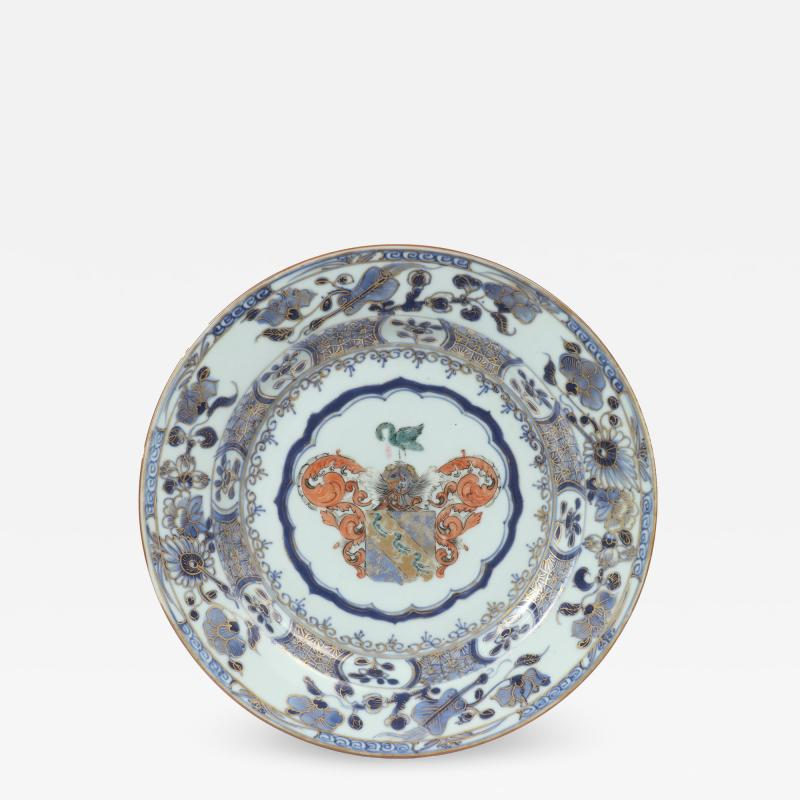 Chinese Export Armorial Plate c 1730