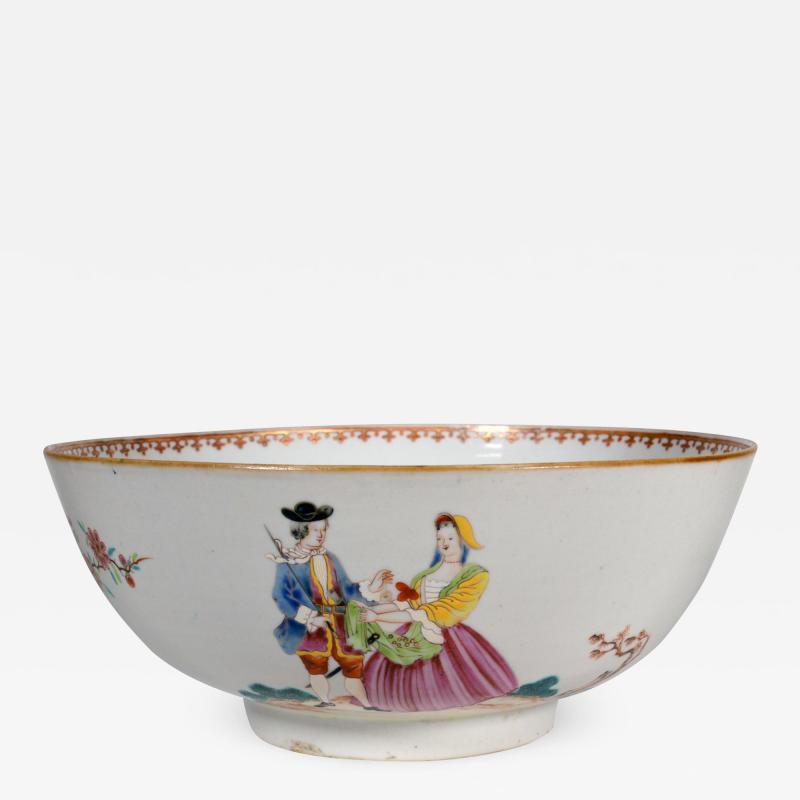 Chinese Export Porcelain Sailors Farewell Return Bowl