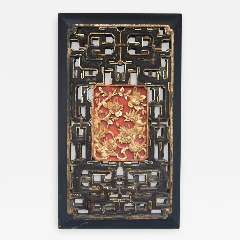 Chinese Guardian Lion Door Panel