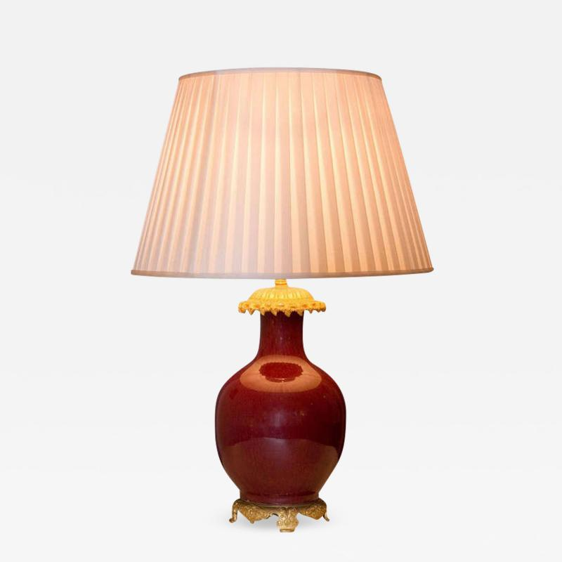 Chinese Red Sang de Boeuf Lamp