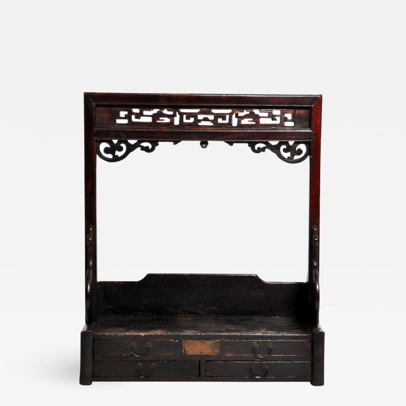 Chinese Vanity Stand with Three Drawers