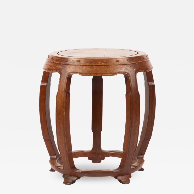 Chinese rosewood barrel shaped garden seat
