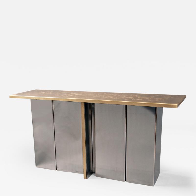 Christian Aime Heckscher Console Table by Christian Heckscher born 1951 Belgium 1970s