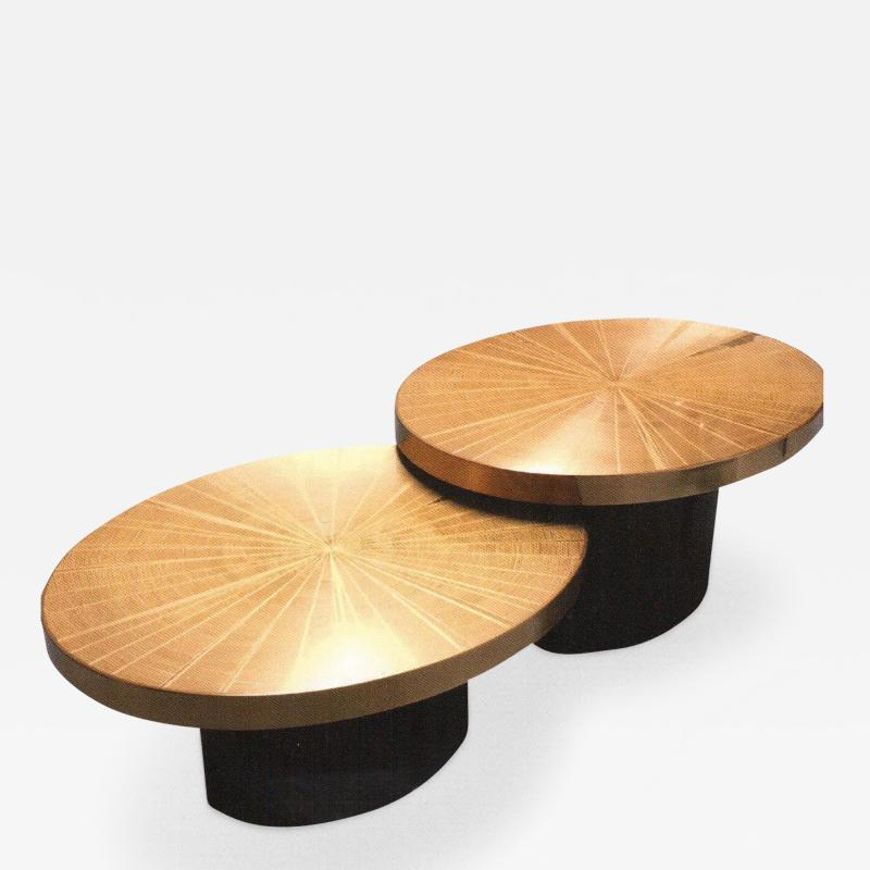 Christian Aime Heckscher The Gemini Cocktail Coffee Tables by Christian Heckscher