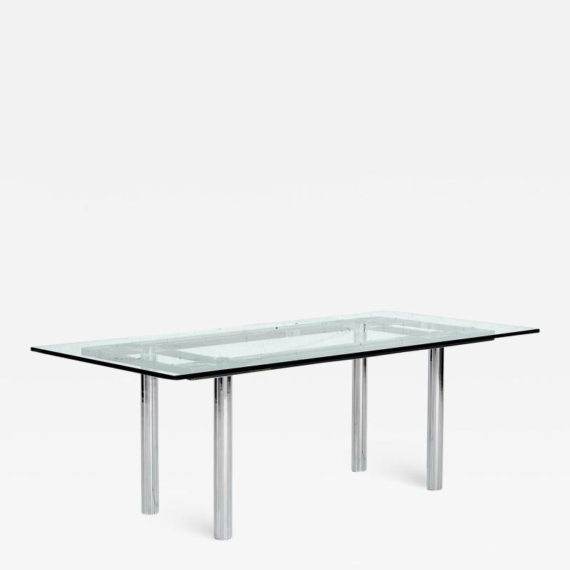 Chrome Dining Table by Tobia Scarpa 11960