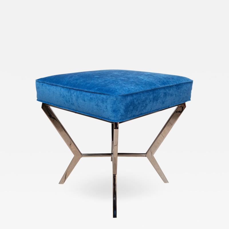 Chrome modernist bench
