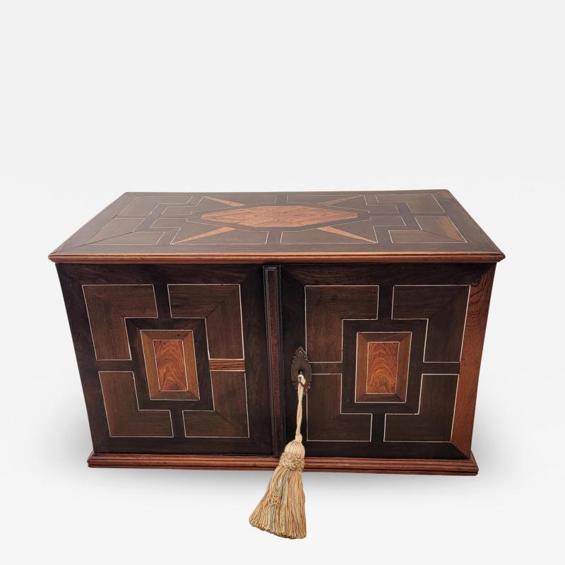 Circa 1720 Continental Mixed Wood Collectors Cabinet