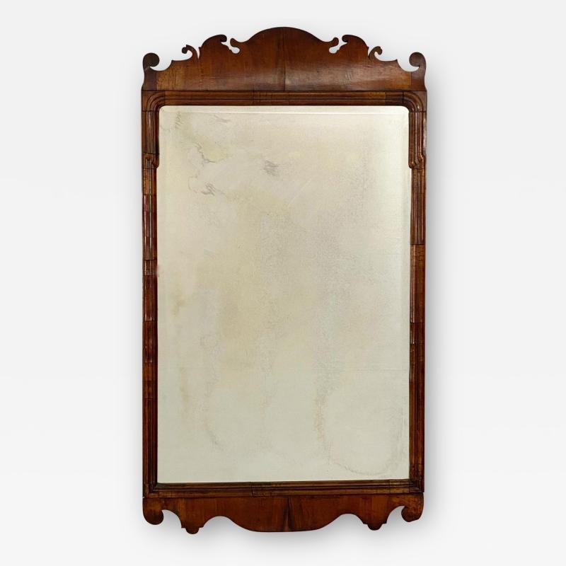 Circa 1740 George I Walnut Mirror England