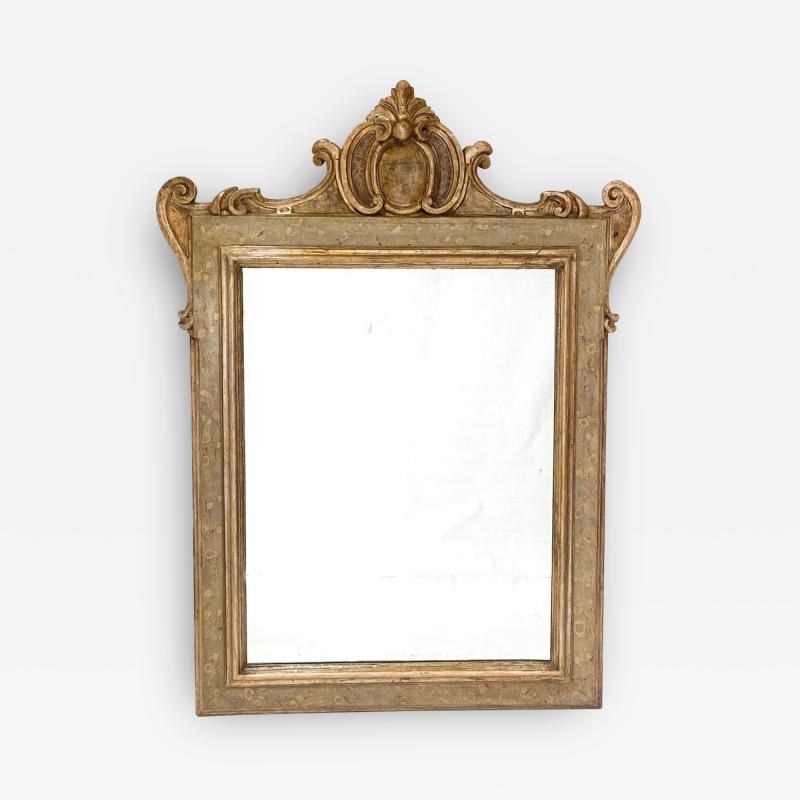 Circa 1750 Venetian Faux Painted Mirror Italy