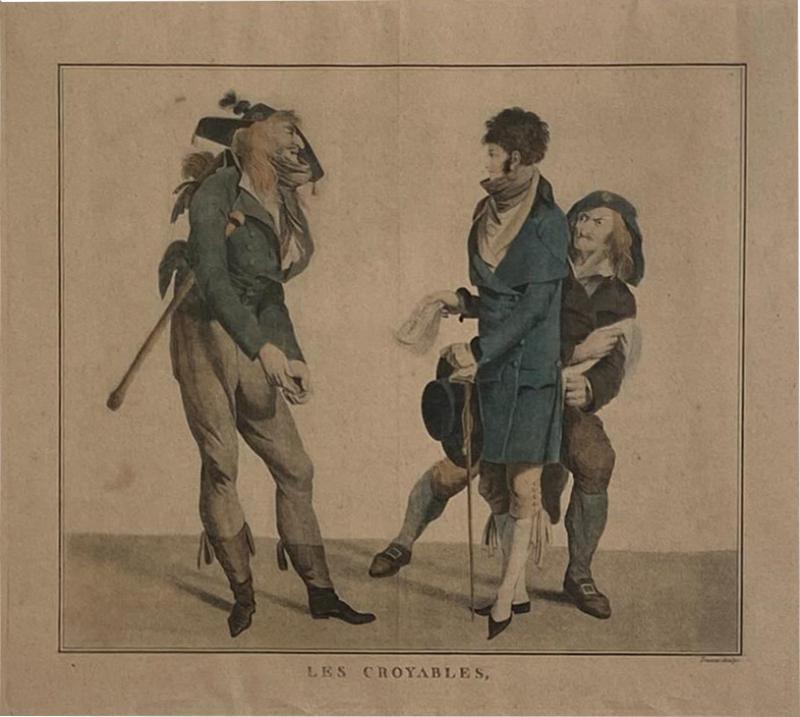 Circa 1797 Les Croyables engraving France