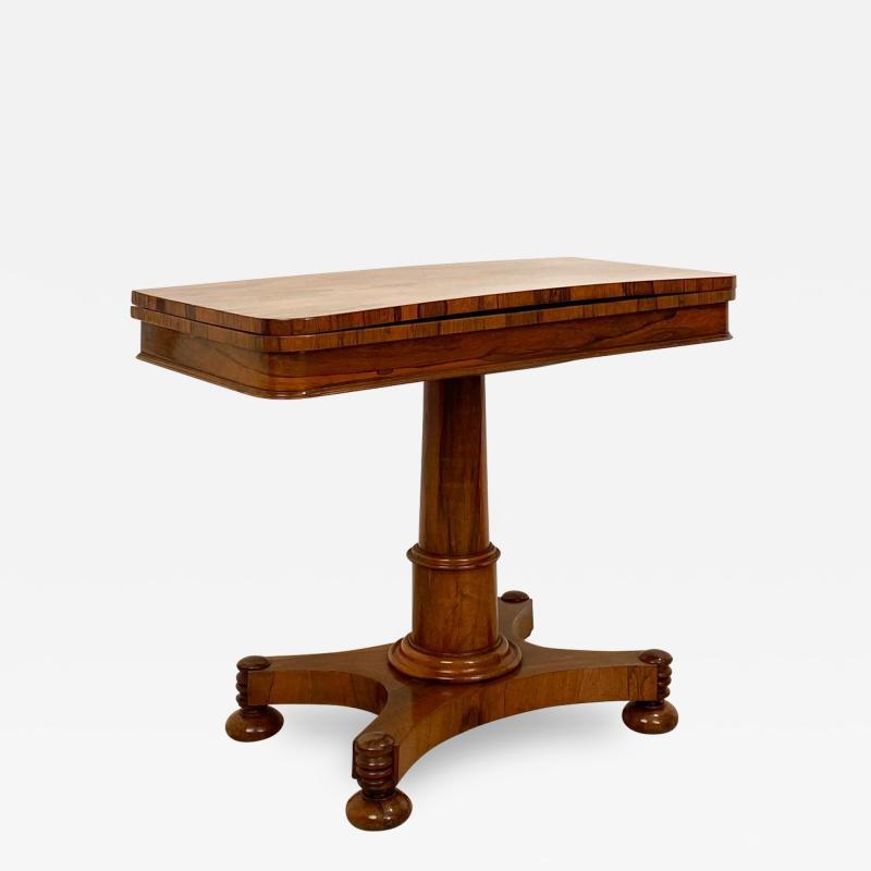Circa 1825 Rosewood Pedestal Regency Game Table England