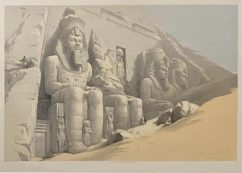 Circa 1847 The Great Temple of Aboo Simble Lithograph David Roberts England