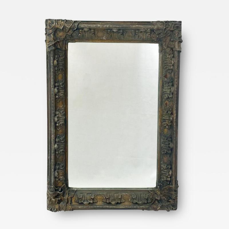 Circa 1870 Baroque Style Mirror American