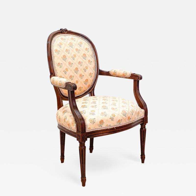 Circa 1890 French Walnut Armchair