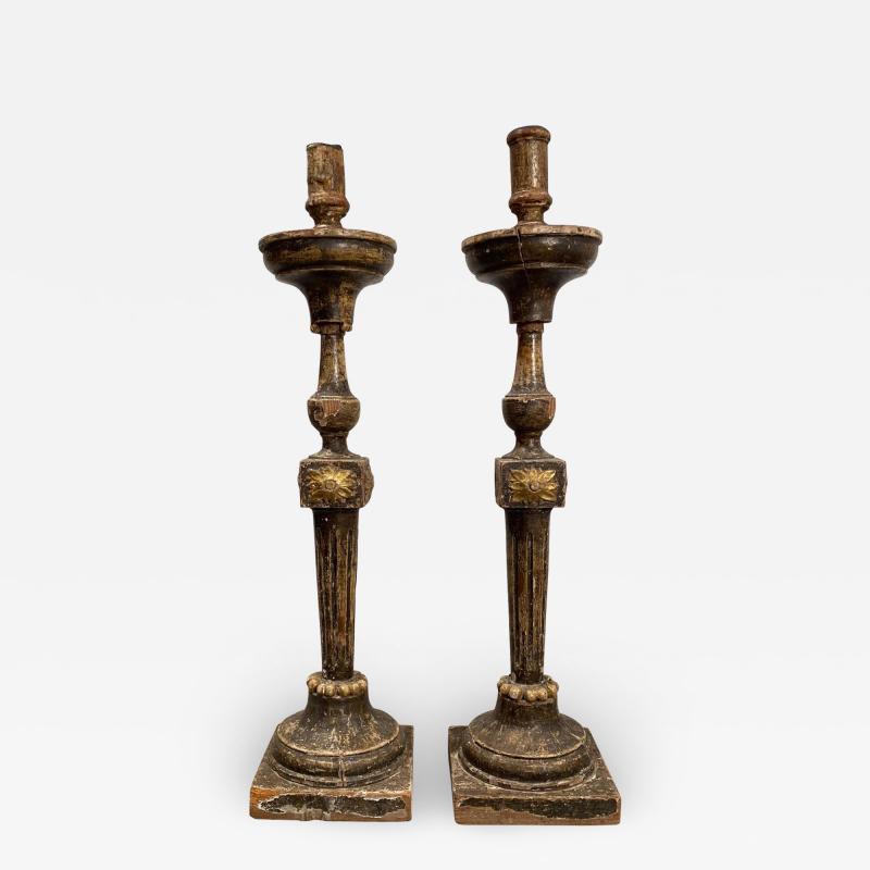 Circa 18th Century Louis XVI Candlesticks A Pair