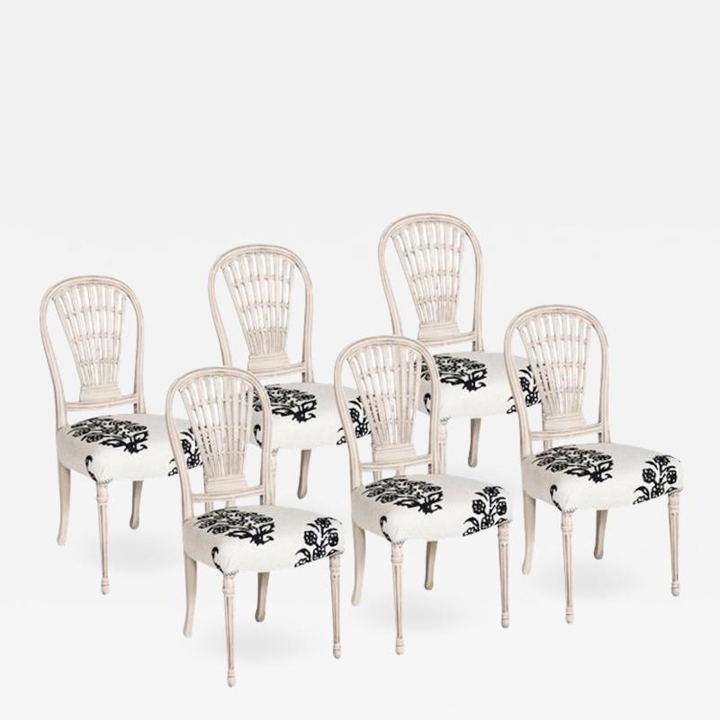 Circa 1900 Jansen Louis XVI Style Dining Chairs France Set of 6
