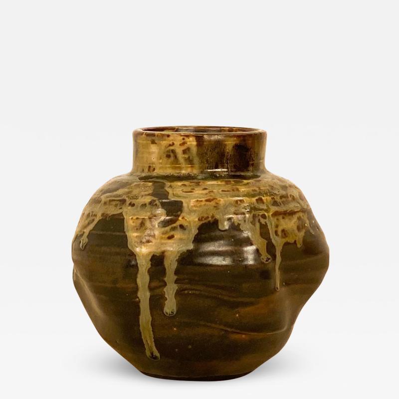 Circa 1920 Art Pottery Vase Japan