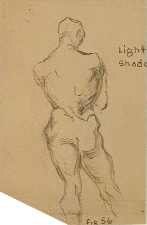 Circa 1940s Academic Drawing of a Man