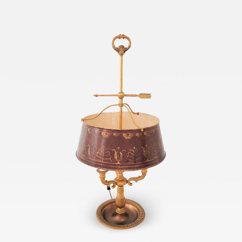 Circa 19th Century Gilt Bronze Bouillotte Lamp France