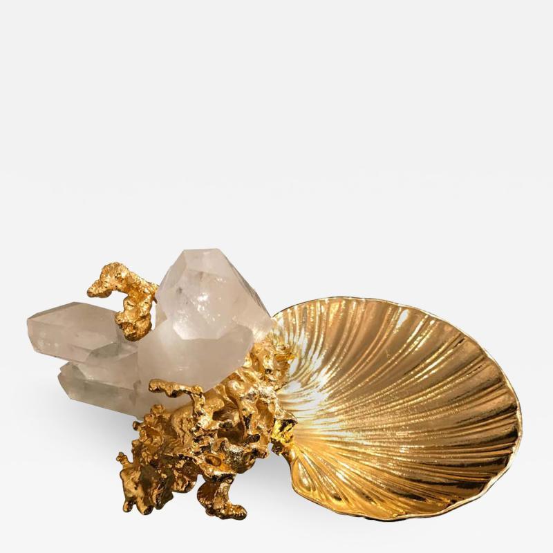 Claude Victor Boeltz Claude Victor Boeltz French Gold Bronze Dish Sculpture
