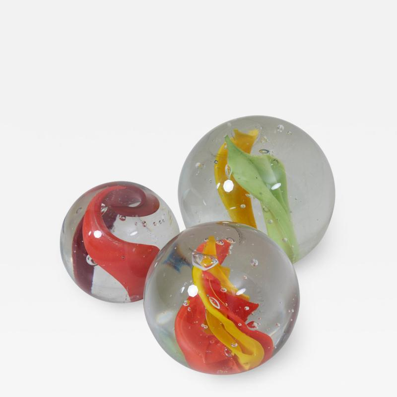 Claudia List Set of Three Huge Glass Balls by Claudia List Germany 2007