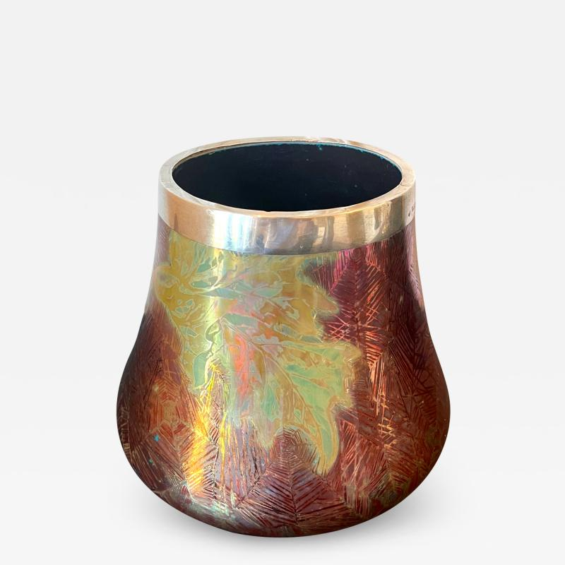 Clement Massier French Japonesque Art Nouveau Lusterware Vase Clement Massier