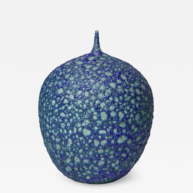Cliff Lee Cliff Lee rare Teardrop blue glazed porcelain lava vase United States