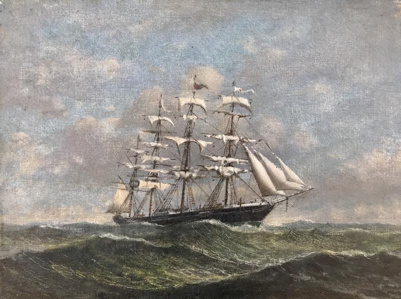 Clipper in High Seas