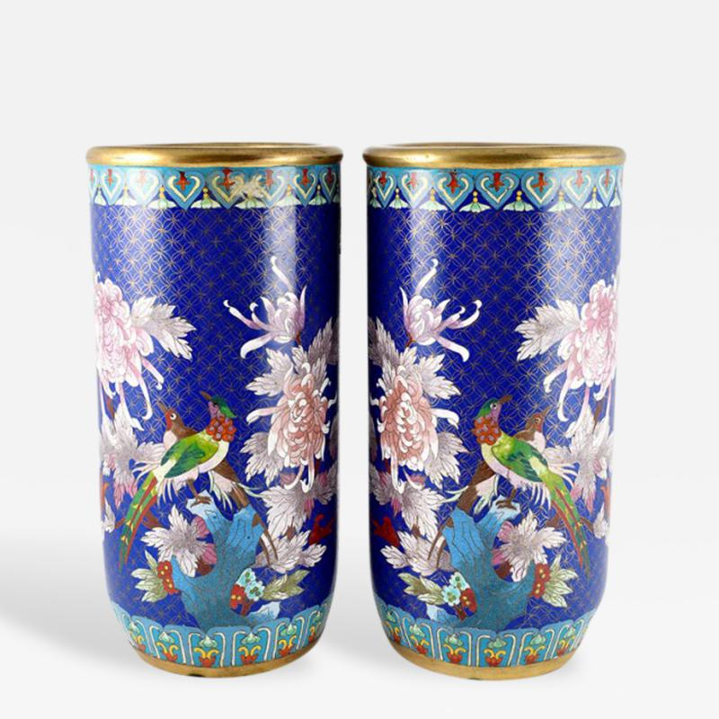 Cloisonn Vases China 15