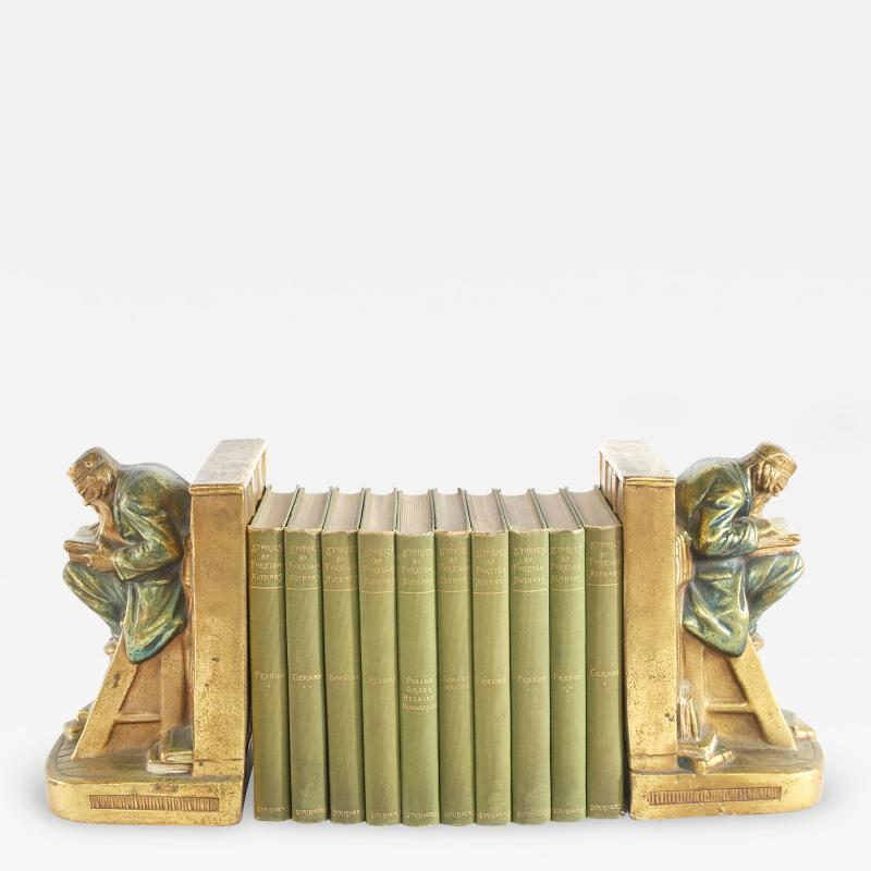 Collection Gilt Leather Bound Book Set