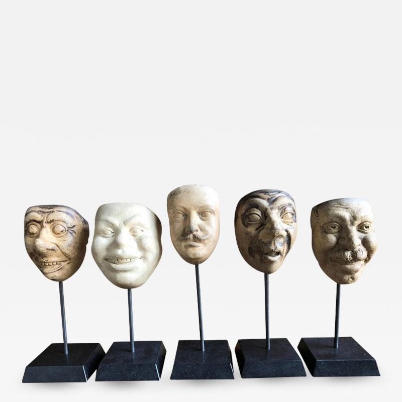 Collection Of 19th Century Carnival Mask Molds
