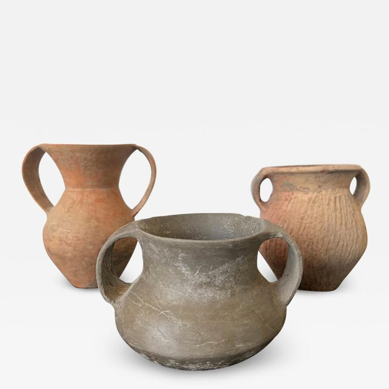 Collection of Three Chinese Neolithic Pottery