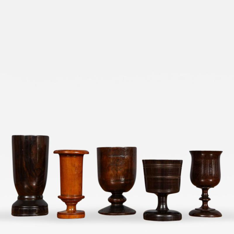 Collection of Treen Vessels